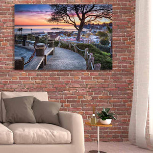 Depot Hill Sunset - Living Room Metal Print