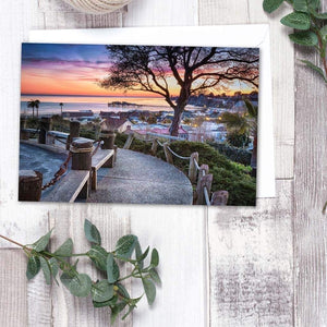 Depot Hill Sunset - Greeting Card - Santa Cruz Art Prints