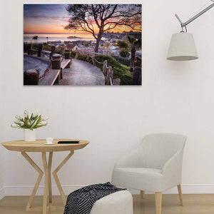 Depot Hill Sunset - Studio Metal Wall Art Print