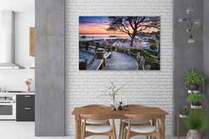 Depot Hill Sunset - Kitchen Metal Wall Art Print
