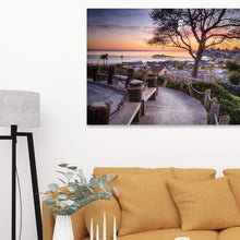 Load image into Gallery viewer, Depot Hill Sunset - Canvas Print - Santa Cruz Art Prints