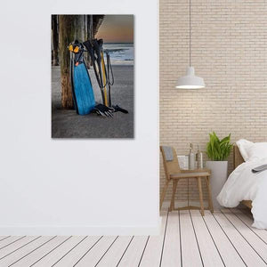 Freediving at Seacliff Pier - Bed Room Wall Art Print