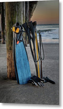 Load image into Gallery viewer, Freediving at Seacliff Pier - Metal Wall Art Print