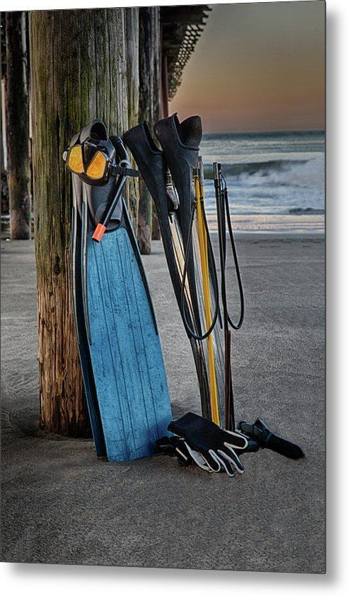 Freediving at Seacliff Pier - Metal Wall Art Print