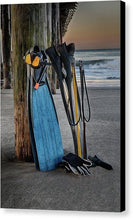 Load image into Gallery viewer, Freediving At The Pier - Canvas Print - Santa Cruz Art Prints