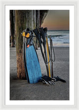 Load image into Gallery viewer, Freediving At The Pier - Framed Print - Santa Cruz Art Prints