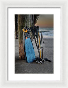 Freediving At The Pier - Framed Print - Santa Cruz Art Prints