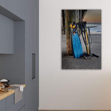 Load image into Gallery viewer, Freediving At The Pier - Art Print - Santa Cruz Art Prints