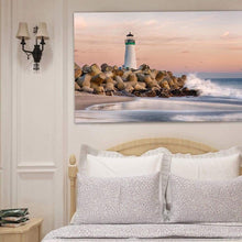 Load image into Gallery viewer, The Harbor Lighthouse - Art Print - Santa Cruz Art Prints