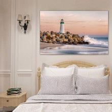 Load image into Gallery viewer, The Harbor Lighthouse - Bedroom Metal Print