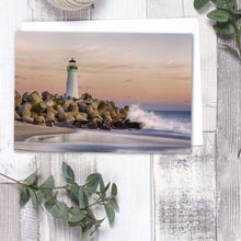 Load image into Gallery viewer, The Harbor Lighthouse - Greeting Card - Santa Cruz Art Prints