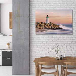 The Harbor Lighthouse - Kitchen Metal Print