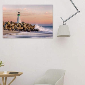 The Harbor Lighthouse - Studio Metal Print