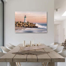Load image into Gallery viewer, The Harbor Lighthouse - Dining Room Metal Print