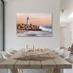The Harbor Lighthouse - Dining Room Metal Print