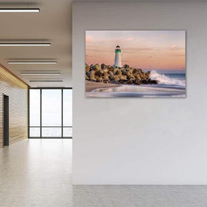 The Harbor Lighthouse - Office Metal Print