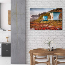Load image into Gallery viewer, Lifeguard Towers in Winter - Dining Room Wall Art Prints