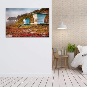 Lifeguard Towers in Winter - Bedroom Wall Art Prints
