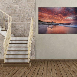 Santa Cruz Lighthouse at Sunrise - Living Room Wall Art Print