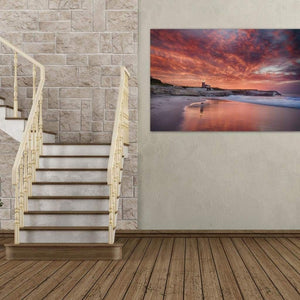 Santa Cruz Lighthouse At Sunrise - Canvas Print - Santa Cruz Art Prints