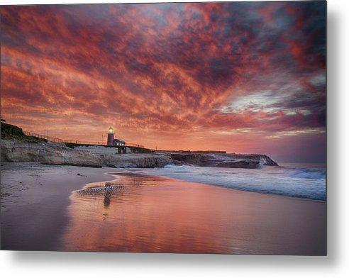 Santa Cruz Lighthouse at Sunrise - Metal Wall Art Print