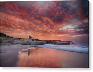 Santa Cruz Lighthouse At Sunrise - Acrylic Print - Santa Cruz Art Prints