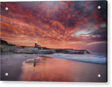 Load image into Gallery viewer, Santa Cruz Lighthouse At Sunrise - Acrylic Print - Santa Cruz Art Prints