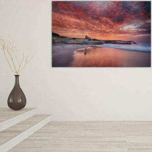 Santa Cruz Lighthouse at Sunrise - Hallway Wall Art Print