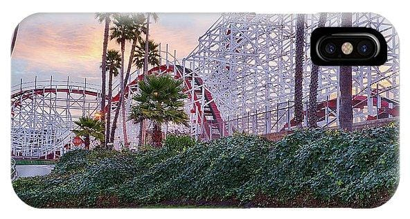 Santa Cruz Roller Coaster At Sunrise - Phone Case - Santa Cruz Art Prints