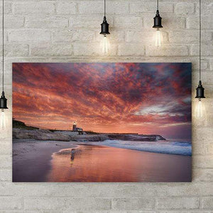 Santa Cruz Lighthouse at Sunrise - Gallery Metal Wall Art Print