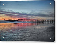 Load image into Gallery viewer, Silhouette Of Seacliff Pier - Acrylic Print - Santa Cruz Art Prints