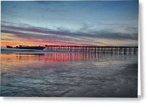 Silhouette Of Seacliff Pier - Greeting Card - Santa Cruz Art Prints