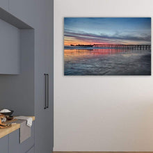 Load image into Gallery viewer, Silhouette Of Seacliff Pier - Art Print - Santa Cruz Art Prints