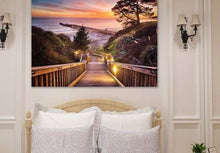 Load image into Gallery viewer, Stairway to the Sunset - Bedroom Metal Wall Art Print