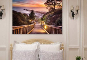 Stairway to the Sunset - Bedroom Metal Wall Art Print