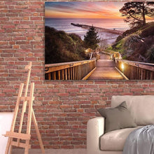 Load image into Gallery viewer, Stairway To The Sunset - Canvas Print - Santa Cruz Art Prints
