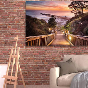 Stairway To The Sunset - Canvas Print - Santa Cruz Art Prints