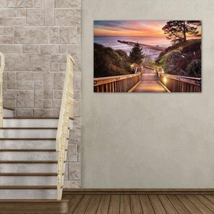 Stairway to the Sunset - Living Room Metal Wall Art Print