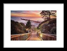 Load image into Gallery viewer, Stairway To The Sunset - Framed Print - Santa Cruz Art Prints