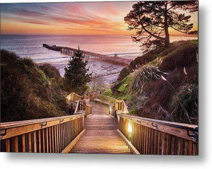Stairway to the Sunset - Metal Wall Art Print