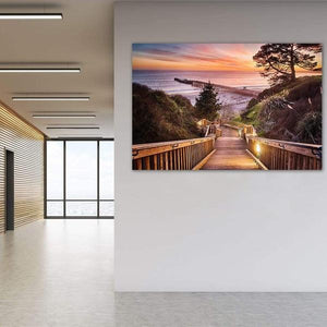 Stairway to the Sunset - Office Metal Wall Art Print