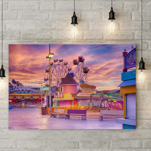 Sunrise On The Boardwalk - Art Print - Santa Cruz Art Prints