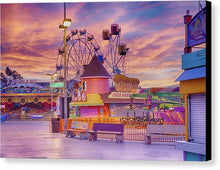 Load image into Gallery viewer, Sunrise On The Boardwalk - Canvas Print - Santa Cruz Art Prints
