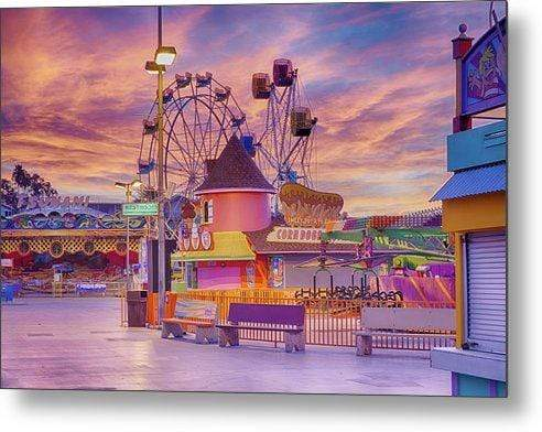 Sunrise on the Boardwalk - Metal Wall Art Print