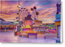 Load image into Gallery viewer, Sunrise On The Boardwalk - Greeting Card - Santa Cruz Art Prints