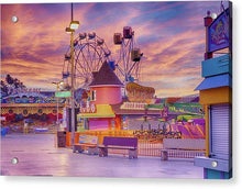 Load image into Gallery viewer, Sunrise On The Boardwalk - Acrylic Print - Santa Cruz Art Prints