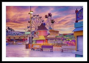 Sunrise On The Boardwalk - Framed Print - Santa Cruz Art Prints