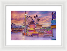 Load image into Gallery viewer, Sunrise On The Boardwalk - Framed Print - Santa Cruz Art Prints