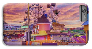 Sunrise On The Boardwalk - Phone Case - Santa Cruz Art Prints