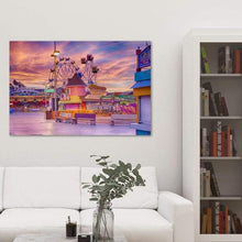 Load image into Gallery viewer, Sunrise on the Boardwalk - Living Room Metal Wall Art Print